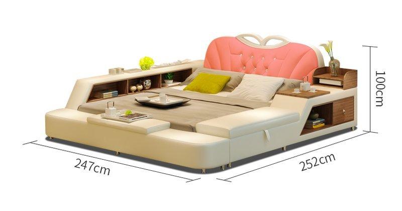 Kích thước Giường tatami bọc da sang trọng GN012