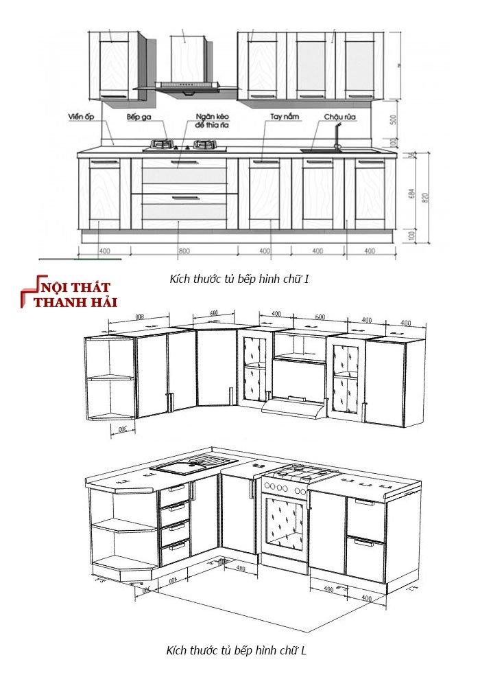 Kích thước tủ bếp phong thủy