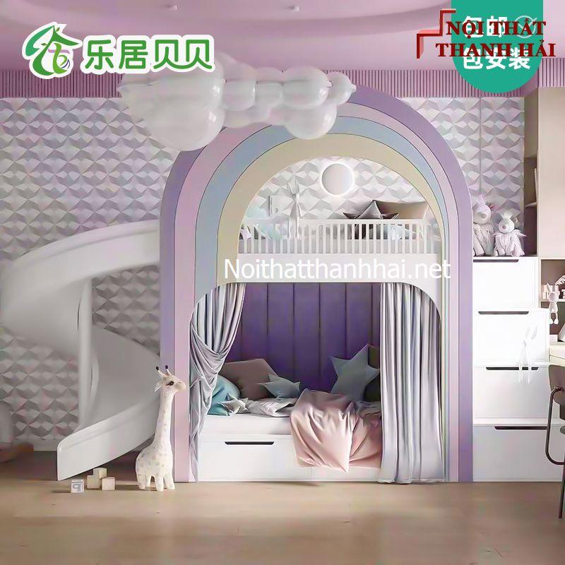 Giường tầng kiểu ngôi nhà cho bé đẹp 12