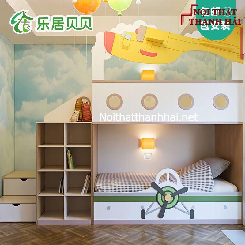Giường tầng kiểu ngôi nhà cho bé đẹp 13