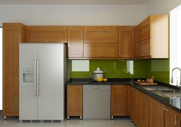 Tủ bếp làm bằng gỗ tự nhiên