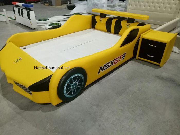 Ảnh thật giường ô tô trẻ em GTE091 màu vàng làm giống như cam kết 90% so với thiết kế