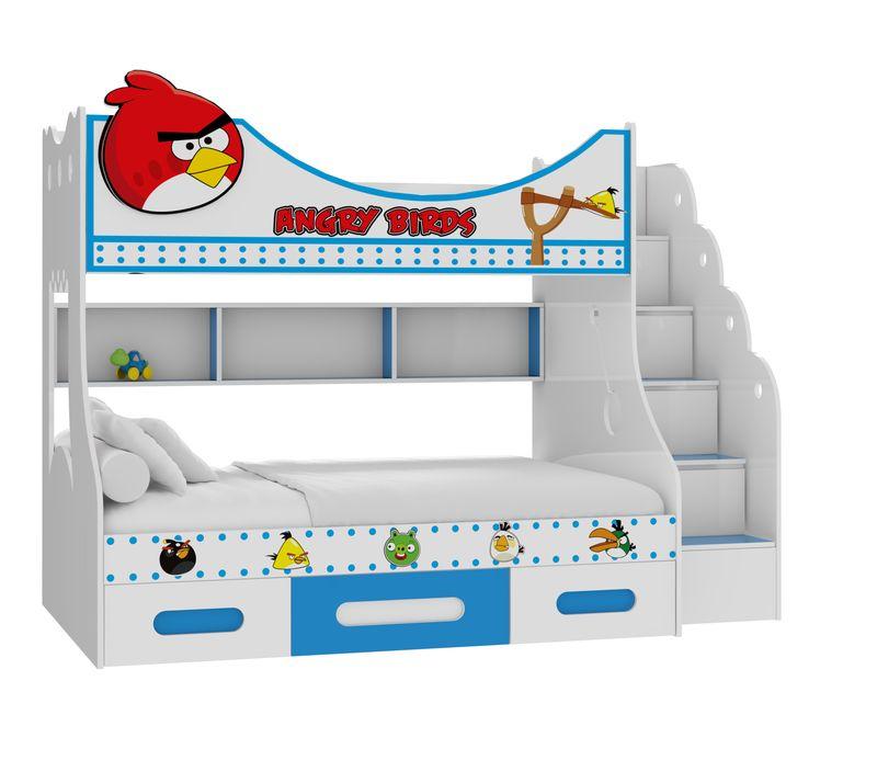 Giường tầng in hình chú chim Happy Birds GTE11