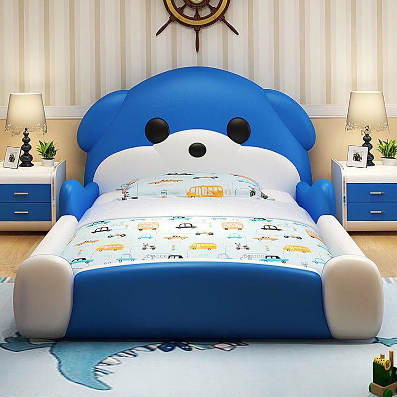 Giường cho bé hình chú chó dễ thương GTE117 màu xanh da trời 2