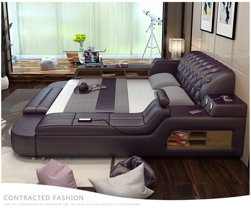 Giường thông minh kiểu Nhật có ghế massage + loa nghe nhạc GN017 3