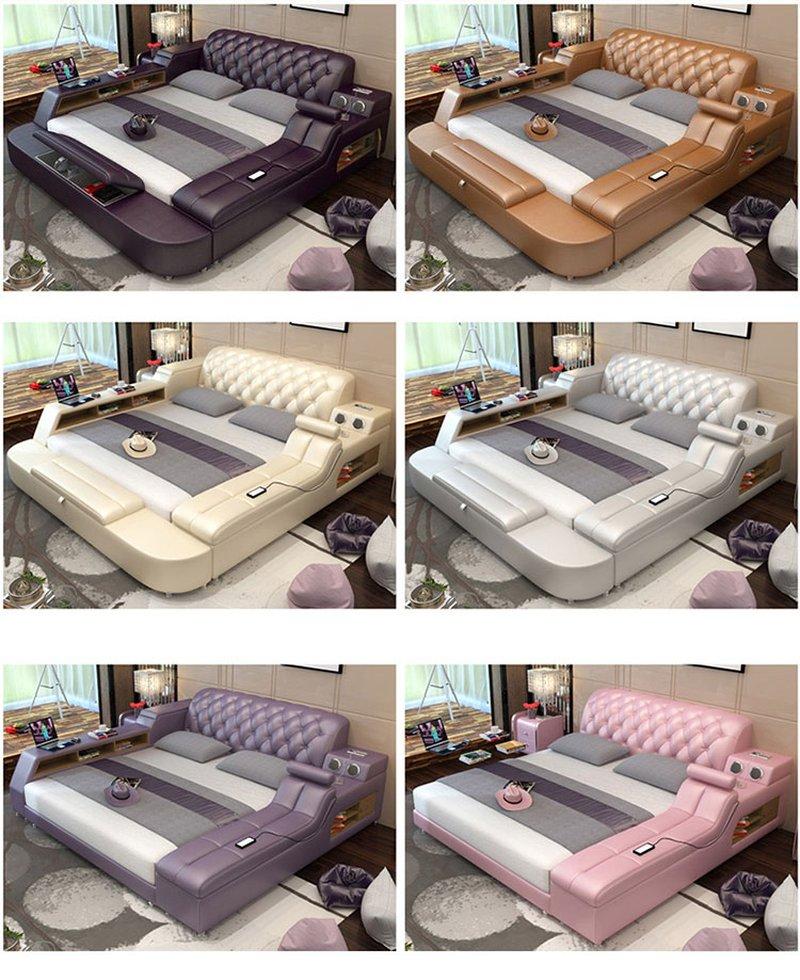 Màu sắc Giường thông minh kiểu Nhật có ghế massage + loa nghe nhạc GN017