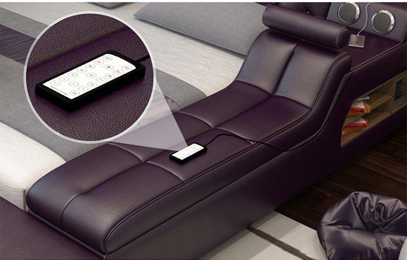 Giường thông minh hiện đại GN017 có ghế massage
