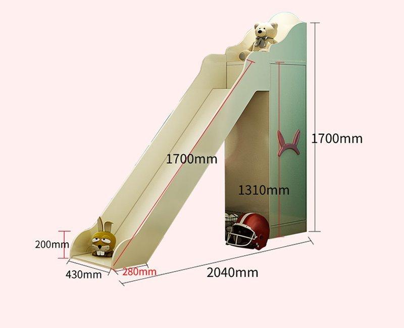 Kích cỡ Mẫu Giường tầng cho bé gái thiết kế đẹp GTE083 màu trắng 2