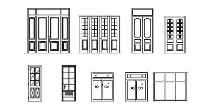 Kích thước cửa chính, cửa phòng ngủ