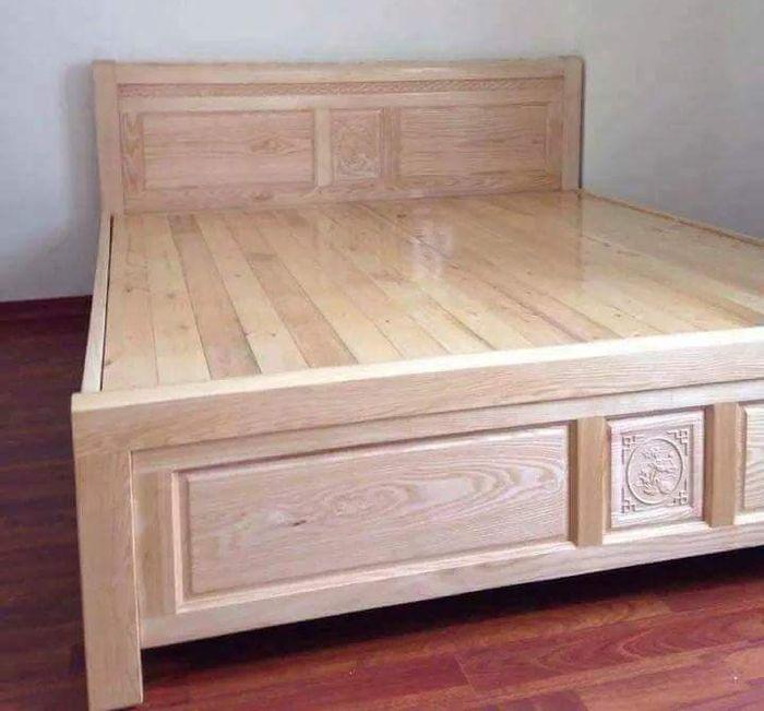 Giường gỗ sồi nga giá rẻ