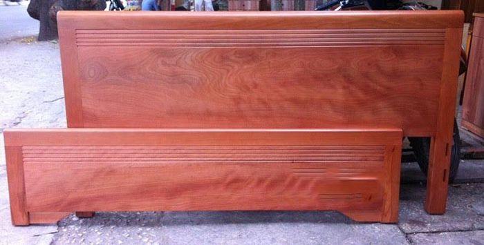 Giường gỗ xoan đào giá rẻ 2