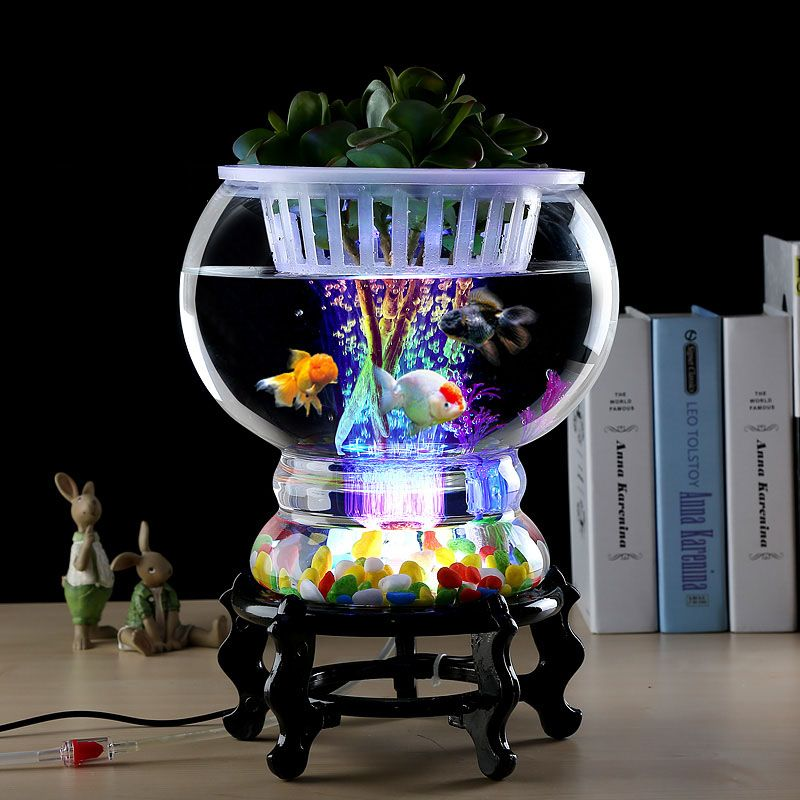 Bể cá mini để bàn phát sáng BC004