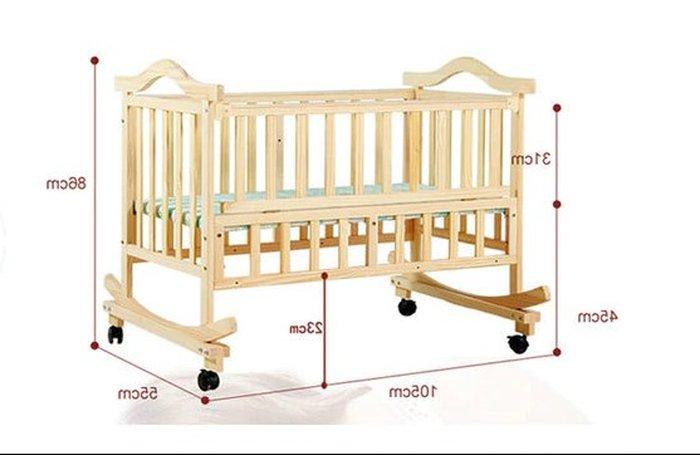 Giường cũi bằng gỗ xoan cao cấp