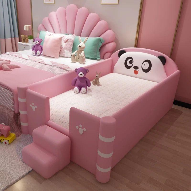 Giường ngủ dễ thương hình gấu trúc GTE120 màu hồng 2