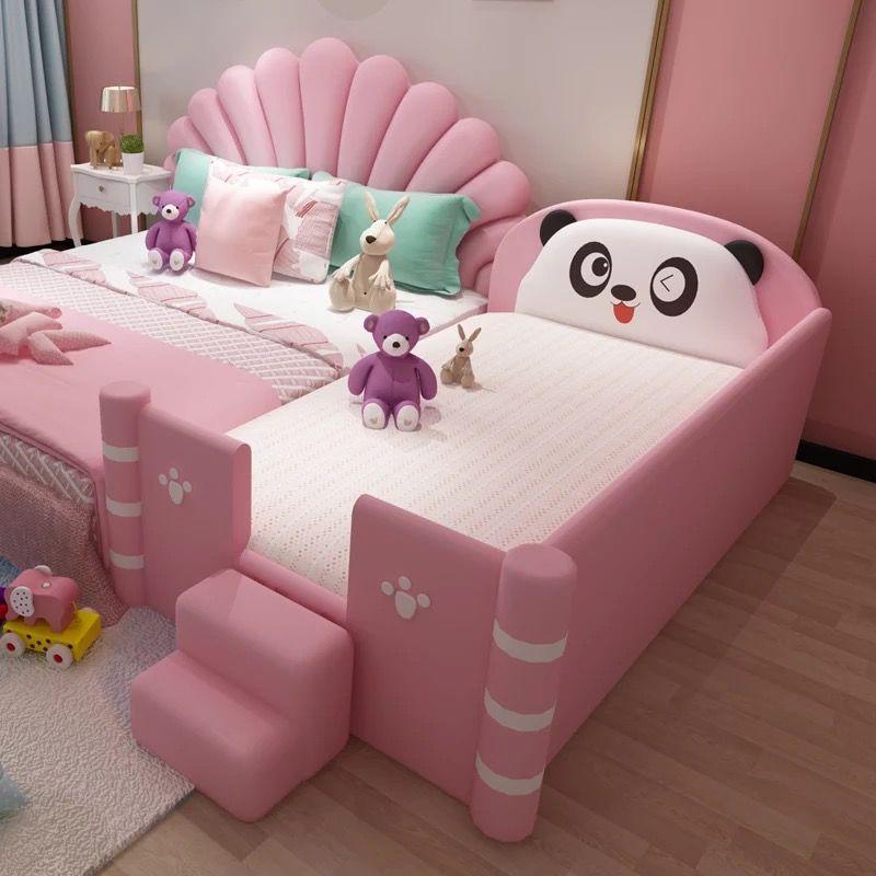 Giường ngủ dễ thương hình gấu trúc GTE120 màu hồng