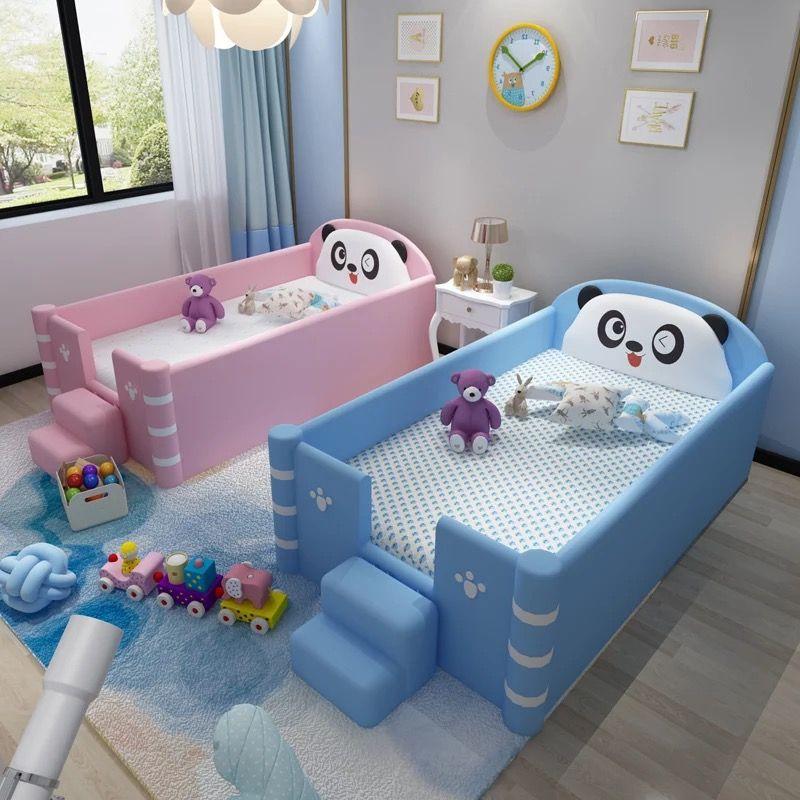 Giường ngủ dễ thương hình gấu trúc GTE120 màu xanh nước biển 2