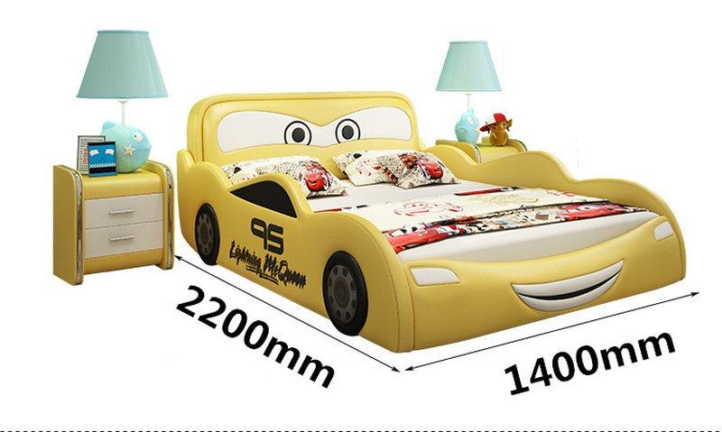 Kích cỡ Giường ngủ ô tô hoạt hình tia chớp MCQUEEN 1m2 x m2