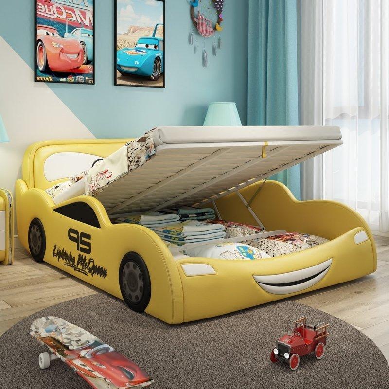Giường ngủ ô tô hoạt hình tia chớp MCQUEEN màu vàng