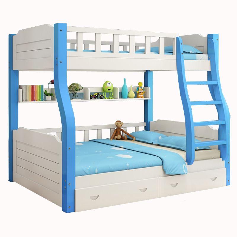Giường tầng trẻ em có ngăn kéo GTE077 màu xanh da trời