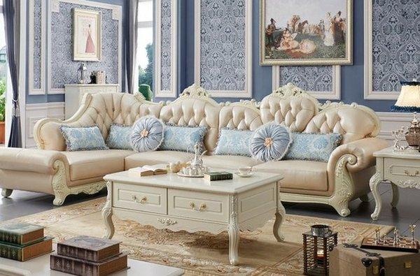 Sofa tân cổ điển góc chữ L sang trọng