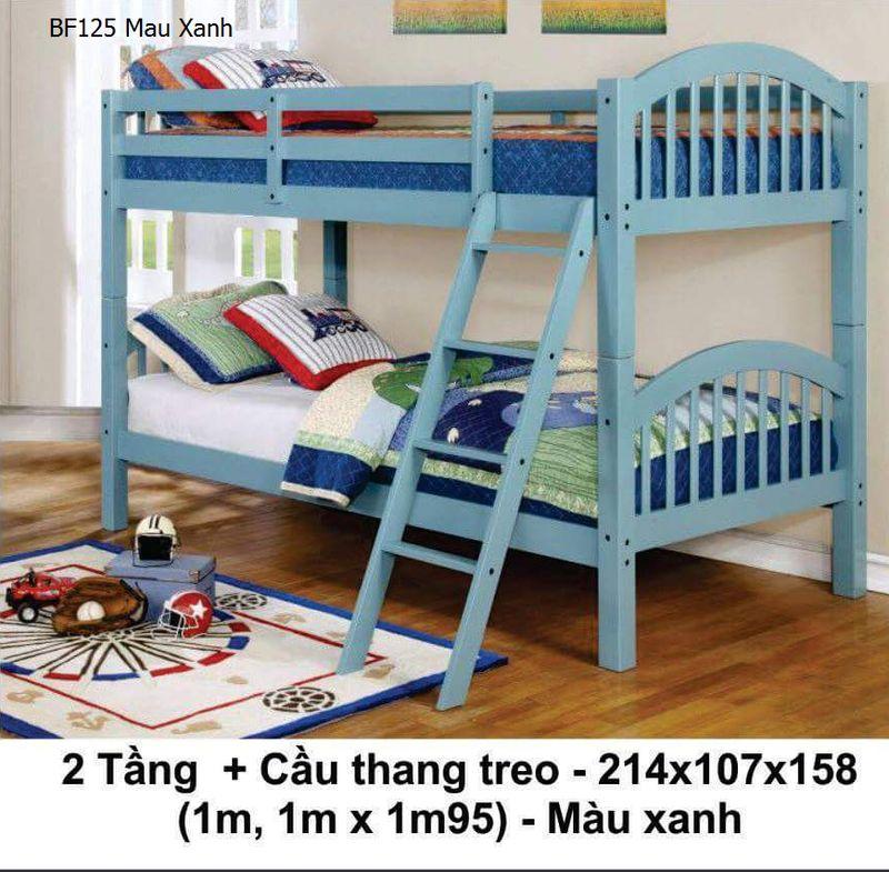 Giường tầng giá rẻ BF125 màu xanh dương