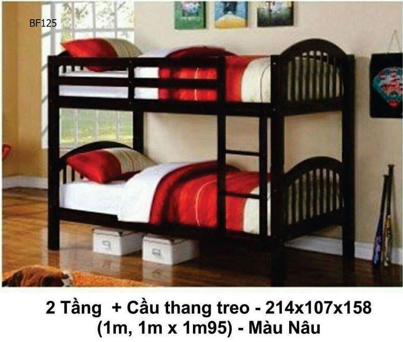 Giường tầng cầu thang treo giá rẻ mã BF125
