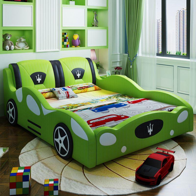 Giường cho bé kiểu dáng ô tô xe đua F1 GTE121 màu xanh lá cây