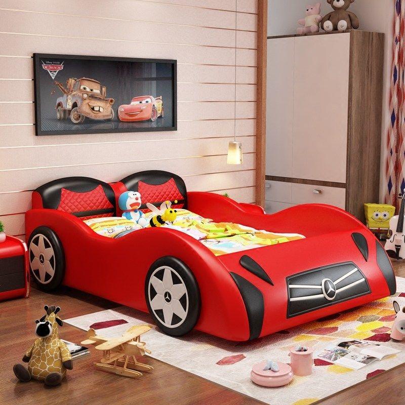Giường cho bé kiểu dáng ô tô xe hơi GTE116 màu đỏ