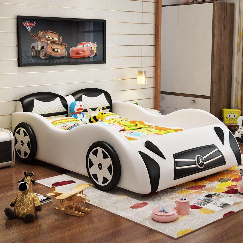 Giường cho bé kiểu dáng ô tô xe hơi GTE116 màu trắng