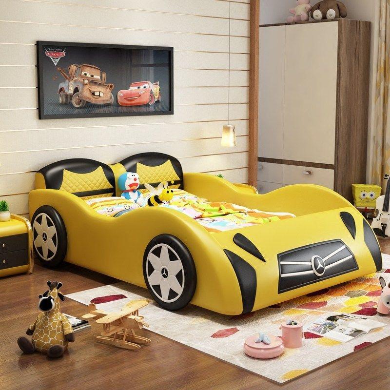 Giường cho bé kiểu dáng ô tô xe hơi GTE116 màu vàng