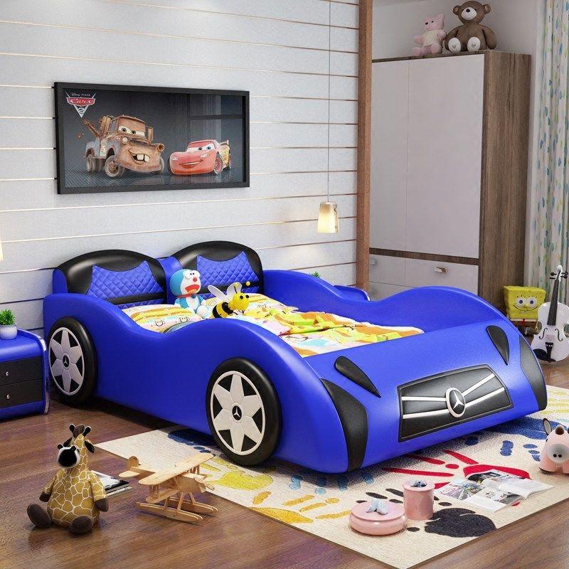 Giường cho bé kiểu dáng ô tô xe hơi GTE116 màu xanh da trời
