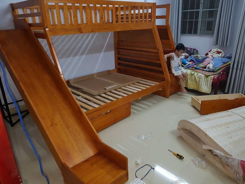 Giường 2 tầng giá rẻ có cầu trượt