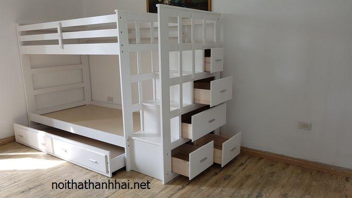 Giường tầng giá rẻ màu trắng