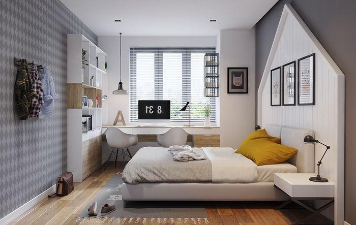 Trang trí phòng ngủ với Cách thiết kế phòng ngủ tối giản