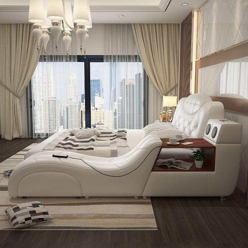 Giường ngủ hiện đại sang trọng có ghế massage thư giãn GN003 4