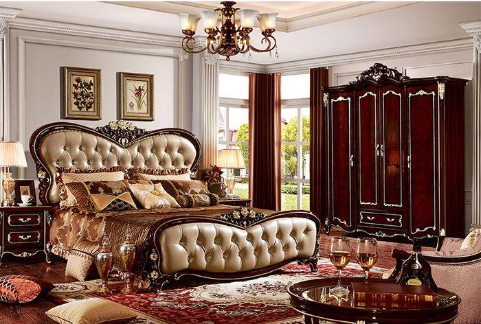 Giường tân cổ điển làm bằng gỗ sồi 3
