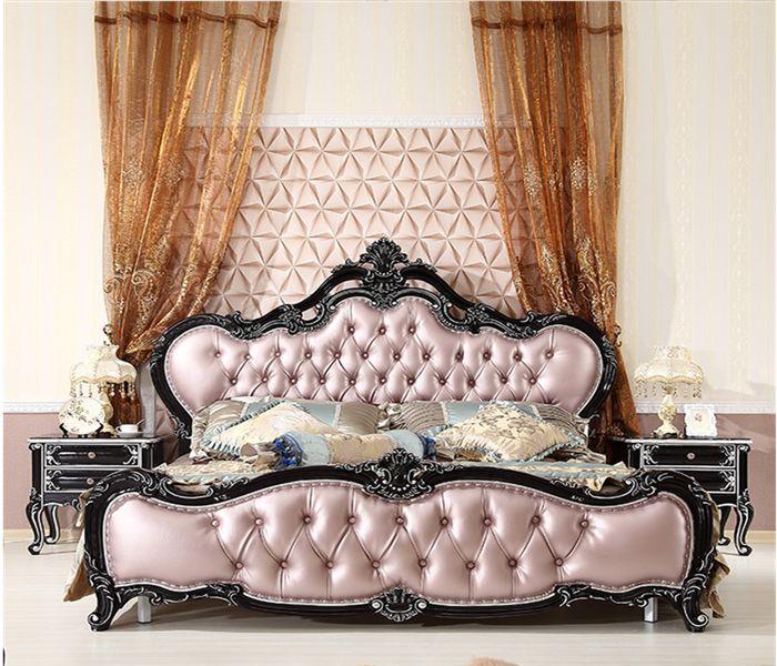 Giường tân cổ điển làm bằng gỗ sồi 1