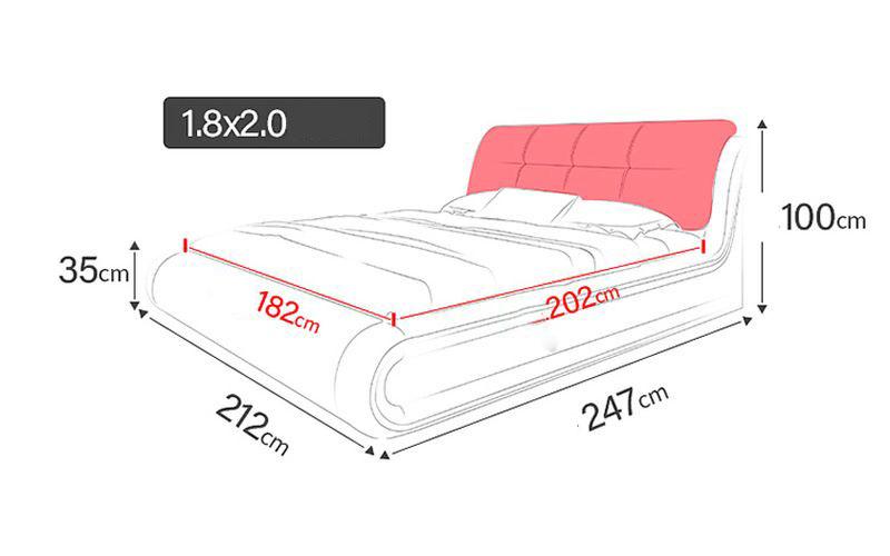 Kích cỡ giường hiện đại GN002