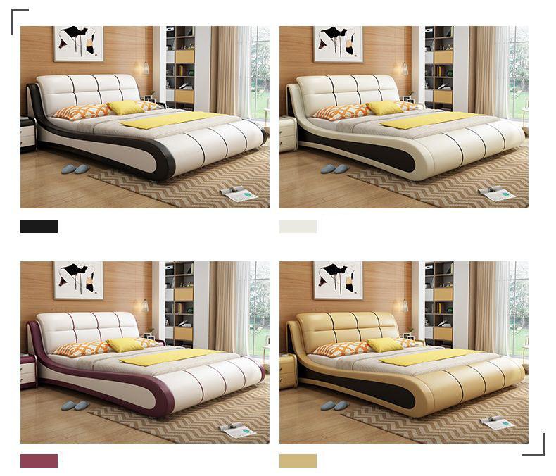 Màu sắc giường ngủ hiện đại GN002 kiểu C
