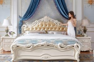 Mẫu giường gỗ tân cổ điển châu âu đẹp