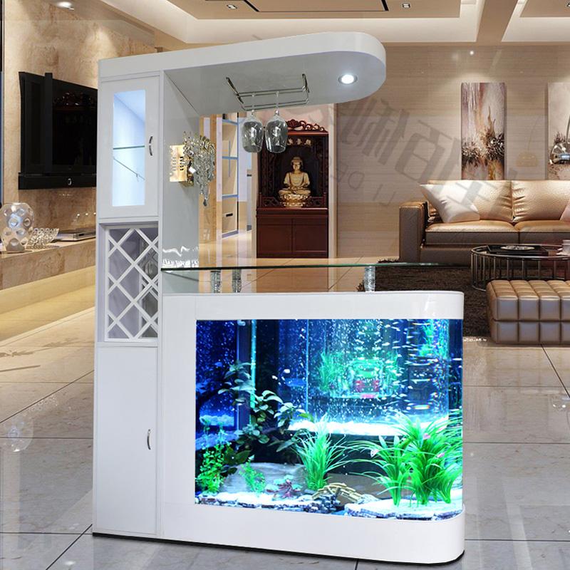 Bể cá kết hợp tủ rượu hiện đại BC007D