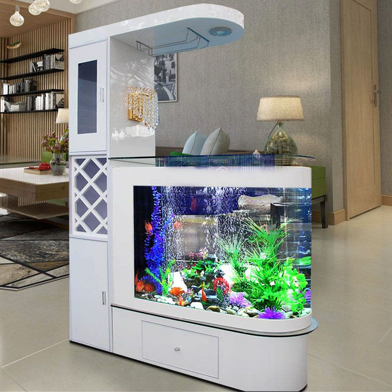 Bể cá kết hợp tủ rượu hiện đại có 1 ngăn kéo BC007F