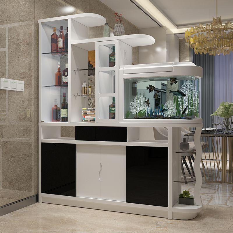 Tủ rượu hiện đại kết hợp bể cá thủy sinh TR004 1