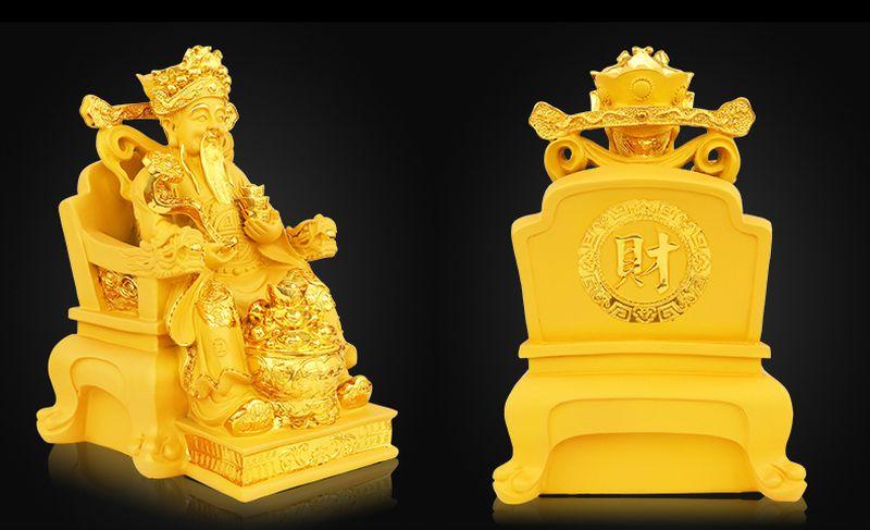 Tượng thần tài sơn màu nhũ vàng