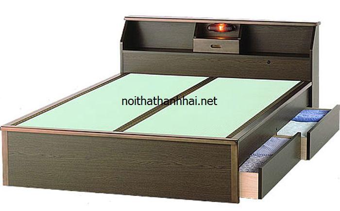 Lựa chọn giường ngủ gỗ đẹp có ngăn kéo hợp mệnh Hoả
