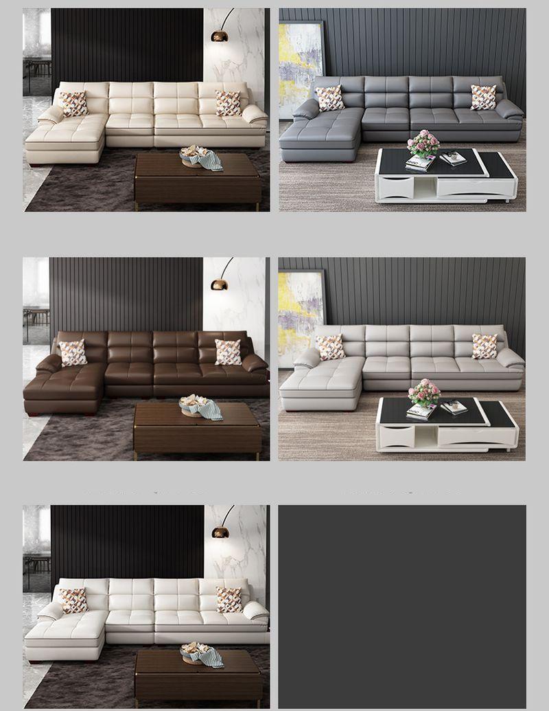 Các màu sắc Bộ ghế sofa cao cấp bọc da Châu Âu SF017