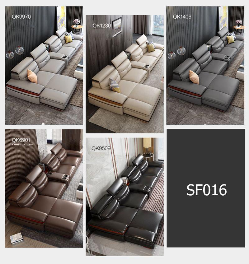 Màu sắc Bộ ghế sofa hiện đại đẹp boc da cao cấp SF016