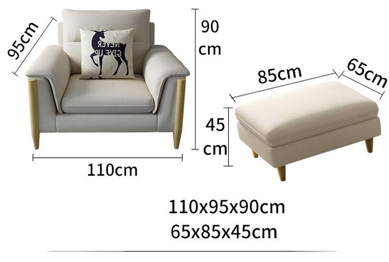 Kích thước 1 Bộ sofa châu âu bọc vải cao cấp SF028 - 2