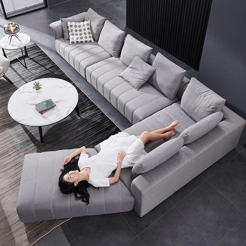 Mẫu ghế sofa chữ L bọc nỉ đẹp SF014 3
