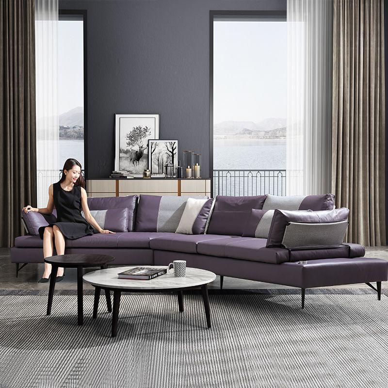Mẫu sofa hiện đại màu tím SF015 2